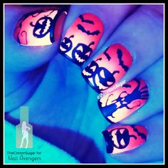"""∞ MaRiA'S Nail Art ∞ on Instagram: """"Hello my loves! How are you? I hope well! I'm late posting this design... anyway! This is my pumpkin and spooky trees mani for this weeks post at @nailavengers  .  Stamping plate """"Halloween 01"""" from @uberchicbeauty WWW.UBERCHICBEAUTY.COM . Let me know if you want a tutorial  -  - Hola mis amores! Qué tal? Espero que genial! Ya se que llego tarde posteando esto... de todas formas, esta es la mani de calabazas"""