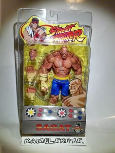 Sagat Street Fighter, Statues, Action Figures, Lunch Box, Geek Stuff, Marvel, Games, Toys, Collection