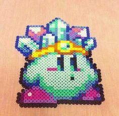 Ice Kirby perler fuse beads