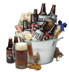 beer gift baskets-beer tasting for the guys Can also do a whiskey tasting, bourbon, etc. Perfect for the man who has everything.
