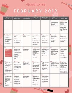 Blogilates Calendar February 2019 98 Best Blogilates Blog Posts images in 2019 | Pilates, Pop