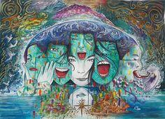 Björk - rapidografo e tempera