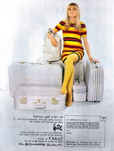 France Gall suitcase ad by retro-space, via Flickr