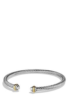 David Yurman 'Cable Classics' Bracelet with Gold available at #Nordstrom