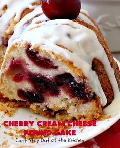 Cherry Cream Cheese Pound Cake – Can't Stay Out of the Kitchen Cupcake Cakes, Bundt Cakes, Cupcakes, Cherry Cake Recipe, Crumb Coffee Cakes, Sheet Cake Pan, Cream Cheese Pound Cake, Cherry Desserts, Pound Cake Recipes