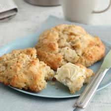 Peppered Pear and Goat Cheese Scones