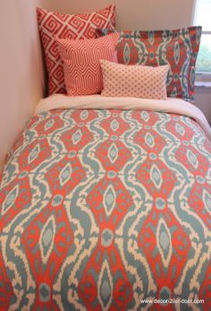 Design your own coral duvet!  BEAUTIMUS! love this pattern. Don't miss out..orders pouring in for summer 2014! Great graduation gift!