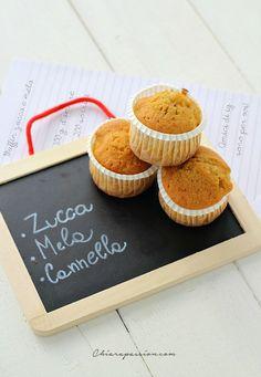 Muffin alla zucca e mela