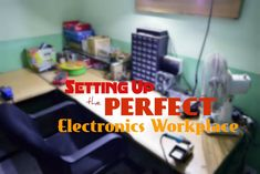 Setting Up the Perfect Electronics Workplace: 16 Steps (with Pictures) Hobby Electronics, Electronics Projects, Electronics Gadgets, Man Cave And Workshop, Workbench Plans Diy, Garage Workbench, Mobile Workbench, Woodworking Workbench, Woodworking Tools