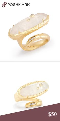 """New! Never worn! Kendra Scott Blithe Cocktail Ring • Size: 1.33""""L x 0.81""""W *Please note: Due to the one-of-a-kind nature of the medium, exact color patterns may vary slightly from the image shown. Add an extra element of sparkle to your outfit with our Blithe Cocktail Ring, featuring our statement-making beauty mark. Kendra Scott Jewelry Rings"""
