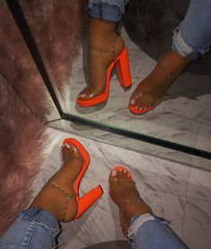 Related posts:Grey high heels with pink detail tutorialWhite sneakers that glowBlack and silver, flames design Stilettos, Pumps Heels, Stiletto Heels, High Heels, Neon Heels, Women's Shoes, Me Too Shoes, Cute Shoes Heels, Lace Up Heels