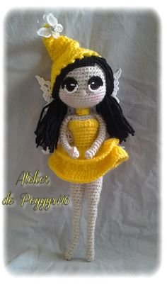 #Crochet doll #fée #féecrochet