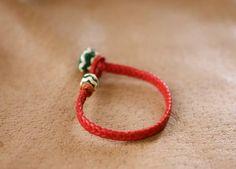 pulsera trenzada cuero de potro de Secretos del Cuero por DaWanda.com