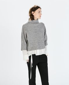 Image 1 of STUDIO FUNNEL COLLAR TOP from Zara