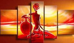 Painting Size: (total 5 panels) (total 5 panels) (total 5 panels) Abstract Art, African Girl Painting, African Woman Painting, 5 Piece Canvas Painting, Wall A Canvas Paintings For Sale, Buy Paintings Online, Online Painting, Easy Paintings, Oil Paintings, Painting Of Girl, Hand Painting Art, Oil Painting On Canvas, Acrylic Canvas