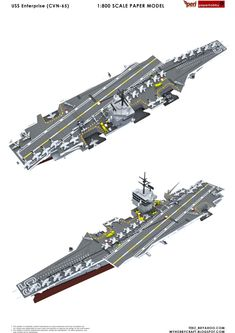USS Enterprise , formerly , is the world's first nuclear-powered aircraft carrier and the eighth Uni. Scale Model Ships, Scale Models, Uss Enterprise Cvn 65, Aircraft Carrier, Battleship, Warfare, First World, Transportation, Display Cabinets