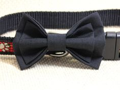 Black Cotton Bowtie for Small to Medium Dogs. Dark Charcoal Special Occasion Pet Jewelry for Puppy Christmas Trends, Black Bow Tie, Bow Tie Wedding, Dog Bows, Medium Dogs, Dog Dresses, Animal Jewelry, Diamond Are A Girls Best Friend, Stone Pendants