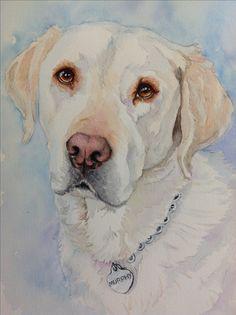 """Murphy the guard dog. 9x12"""" watercolor"""