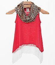 128f37f4d330 Girls - Lily Bleu Slub Fabric Tank Top Girls Designer Clothes