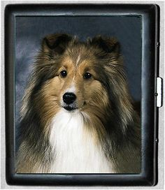 Sheltie Shetland Sheep Dog Metal Wallet Cigarette Case #449