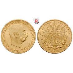 Österreich, Kaiserreich, Franz Joseph I., 20 Kronen 1915, 6,09 g fein, st: Franz Joseph I. 1848-1916. 20 Kronen 21 mm 6,09 g fein,… #coins