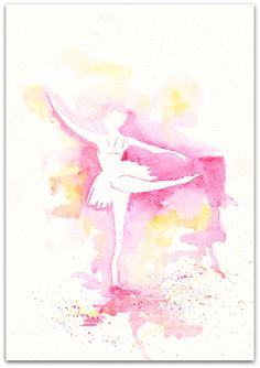 Sunny 2 Ballet art illustration girl room decor kids ballerina wall ballet dress dance watercolor painting PRINT  8x11 on Etsy, $22.35 CAD