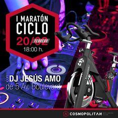 Este viernes a pedalear a ritmo de Dj ♫ ♪ en la 1ª Maratón de #Ciclo. Reserva tu plaza en la sala Fitness. Come on!
