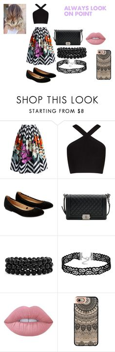 """""""# No Title 9"""" by reginat2321 ❤ liked on Polyvore featuring Chicwish, BCBGMAXAZRIA, Accessorize, Chanel, Bling Jewelry, Lime Crime and Casetify"""