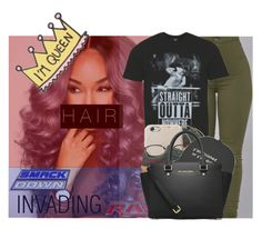 """""""R A W : Invasion straight outta nowhere!"""" by w-on-der-lan-d ❤ liked on Polyvore featuring TNA, George, Puma, Linda Farrow, Forever 21 and MICHAEL Michael Kors"""