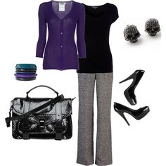 Purple by stylish-qt on Polyvore featuring Jil Sander, Mike Gonzalez, Vince Camuto, Proenza Schouler, Murati and Oasis