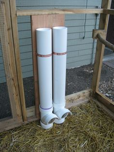 "Chicken Waterer and Feeder for ""Outside"", in fenced run . NOTICE CAP, to keep rain etc out."