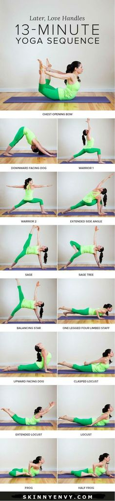 Let Go of Those Love Handles! A Yoga Sequence to Help Tone Your Tummy Feeling frustrated with excess around your midsection you can't seem to get rid of? Try this 13 minute yoga sequence and say goodbye to those stubborn love handles! VISIT skinnyenvy.com for more! #yoga #flatbelly
