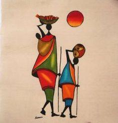 Африканское искусство :: Путешествие - Симба Craftware Madhubani Painting, Krishna Art, Africa Art, Fabric Painting, Watercolor Paintings, Zen Master, African Paintings, Tribal Art, African American Art