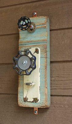 Coat Rack Garden Faucet Handle Door Plate Repurposed Upcycled Baseboard