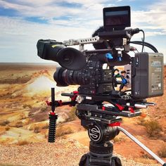 by travmatt  Shooting some USA television in the amazing The Breakaways. Great dawn scenery on the Canon C300, with the ol' Sachtler Panorama out for a trip. #canonc300 #cameraman