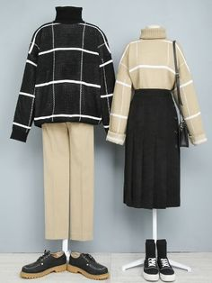 Cute Casual Outfits, Chic Outfits, Pretty Outfits, Fashion Outfits, Moda Outfits, Matching Couple Outfits, Fashion Couple, Korean Fashion Trends, Korean Outfits