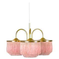 Hans-Agne Jakobsson, Silk Fringe Pendant Lamp, Sweden, 1950s-1960s | 1stdibs.com