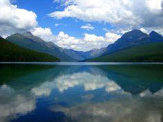 Beautiful Bowman Lake, Glacier National Park, Polebridge, Montana