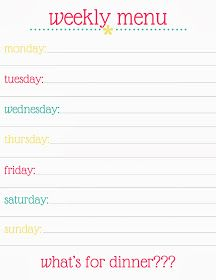 A FREE Meal Planning Printable!!!!