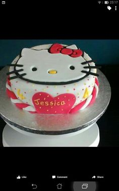 Hello kitty cake for my daughter.