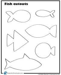 Fish Cut Outs Coloring Page