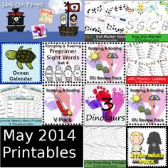 Check out this months top posts, all the free printables from May 2014 and top referrers. Preschool Lessons, Toddler Preschool, Preschool Activities, Worksheets For Kids, Printable Worksheets, Learning Time, Kids Learning, School Days, School Stuff