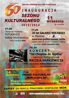 Culture season is starting soon! / Sześćdziesiąty sezon kulturalny MOK w Gnieźnie!
