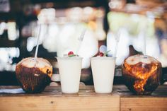 Fresh Coconuts & Pina Coladas at Playa Jobos from the Isabela & Rincon Puerto Rico - Surf Travel Guide   Where to Eat on the West Coast