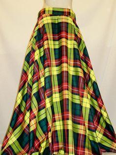 Floor Length Plaid Skirt
