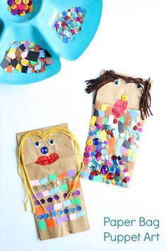 Paper Bag Puppet Art Invitation