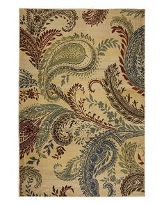 I'm a sucker for paisley.  RueLaLa sale on Mohawk Home Victorian Paisley Rug! $149