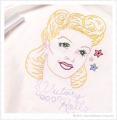 Sublime Stitching - New Hairstyle PDF! Victory Rolls