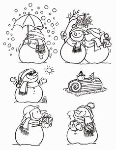 1 This image. Christmas Doodles, Christmas Drawing, Christmas Coloring Pages, Coloring Book Pages, Christmas Colors, Christmas Art, Tampon Scrapbooking, Penny Black, Snowman Crafts