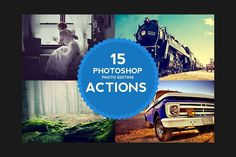 15 Photoshop Photo Editing Actions by M K GRAPHICS on @creativemarket